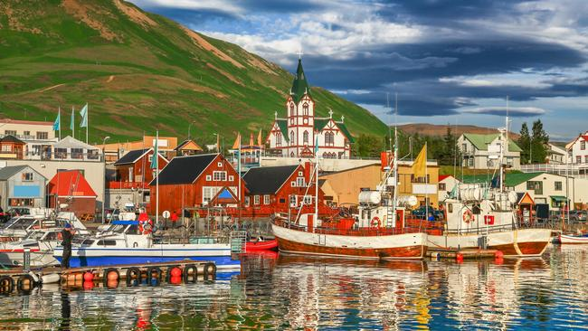 Husavic is a quaint and colourful village in northern Iceland.