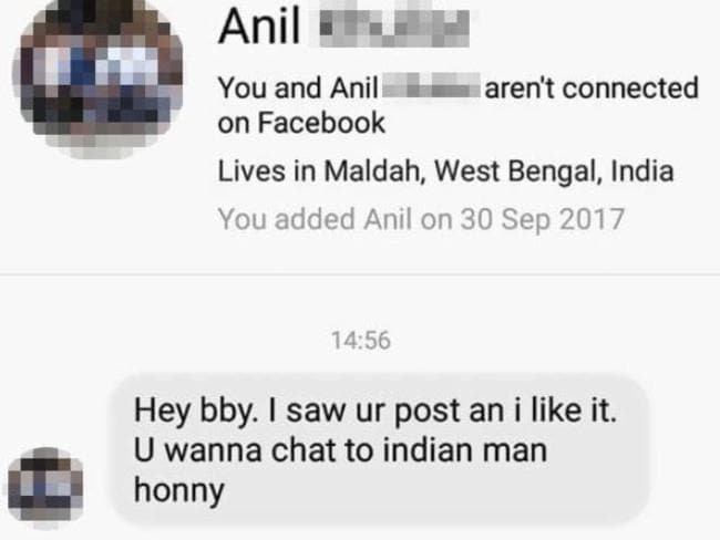 Most people would ignore a Facebook message like this. Not this woman. Picture: Bored Panda