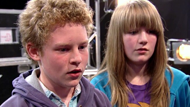 Alison Brunton's children look on uncomfortably as their mother sings Lady Gaga's hit The Edge of Glory on Britain's X Factor. Ofcom is investigating whether the show breached laws designed to protect the emotional welfare of children.