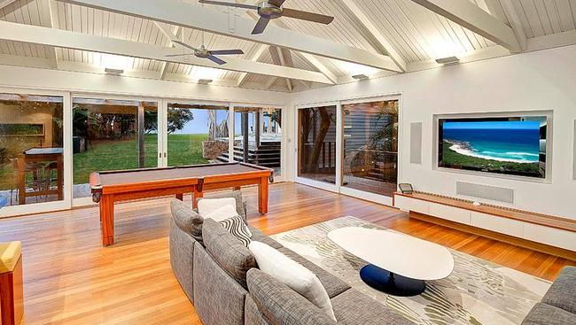 When you're not on the beach or enjoying the views, Bob's Place has plenty of indoor entertainment options. Picture: Luxe Houses.