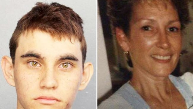 Nikolas Cruz reportedly abused his mother, Lynda (right). Picture: Supplied