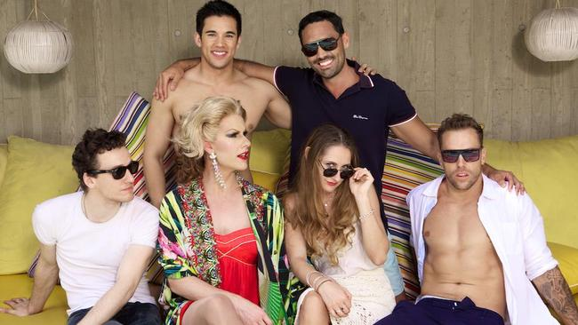 Huge international following ... The stars of gay web series The Horizon. Picture: Supplied