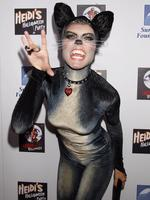 Meow! Heidi Klum attends her 8th Annual Halloween Party at The Green Door on October 31, 2007 in Los Angeles, California. Picture: Getty