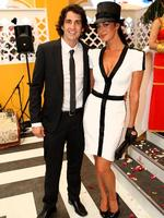 <p>Handsome couple ... Andy Lee and Megan Gale at the 2009 AAMI Victoria Derby Day.</p>