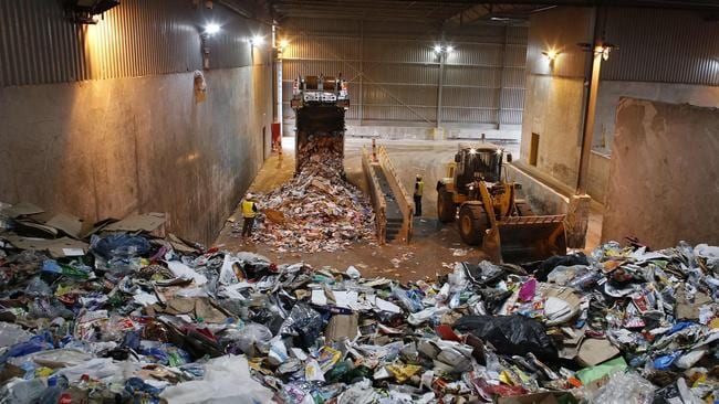 A waste sorting centre. Picture: Thomas Samson