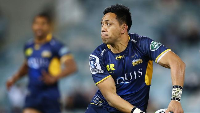 Christian Lealiifano of the Brumbies in action at GIO Stadium in Canberra.