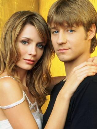 World at her feet ... Mischa Barton and Ben McKenzie from the television show OC. Picture: Supplied