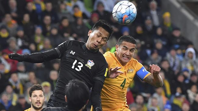 Cahill will miss the opening round of the A-League season as he and the Socceroos face Syria in the World Cup playoff.