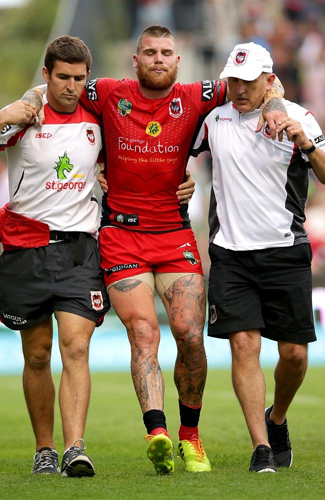 The Dragon are going to have to make do without key man Josh Dugan for the start of the 2014 season. Picture: Gregg Porteous