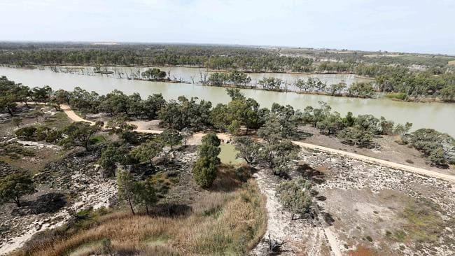 Banrock Station wetlands after the Murray River floodgates were opened. Picture: Simon Cross