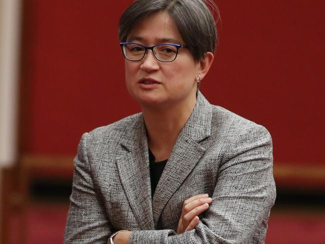 'The people who need defending are the people she attacks' - Penny Wong. Picture Gary Ramage
