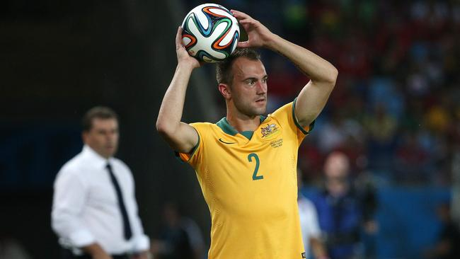 Franjic at Arena Pantanal, during the Group B clash between Australia and Chile in the 2014 World Cup. Picture: George Salpigtidis