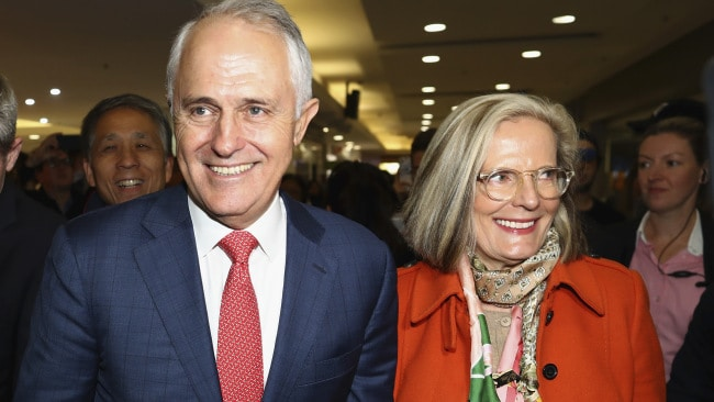 Malcolm says he could never be PM without Lucy by his side. (Photo by Ryan Pierse/Getty Images)