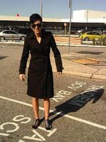 """<p>Ruby Rose was refused access to a business class seat for breaching Qantas dress codes. She emailed Sydney Confidential a picture of herself to show she is dressing """"with caution"""" for future flights. Not sure about the foot wear though Ruby!</p>"""