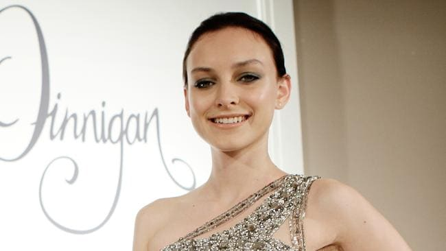 Model Olivia Henderson back in 2010 wearing a design from the autumn-winter collection of Collette Dinnigan