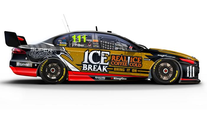 Chris Pither's No. 111 Super Black Racing Ford Falcon.