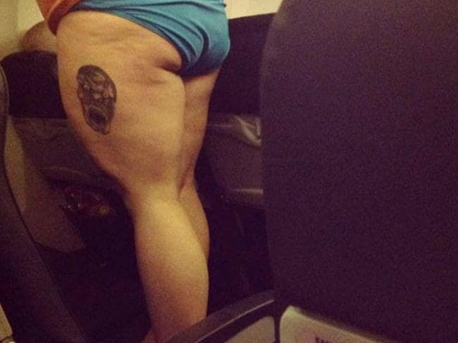 5. Maaaate. Sick tatt. We don't want to see it. Picture: Passenger Shaming