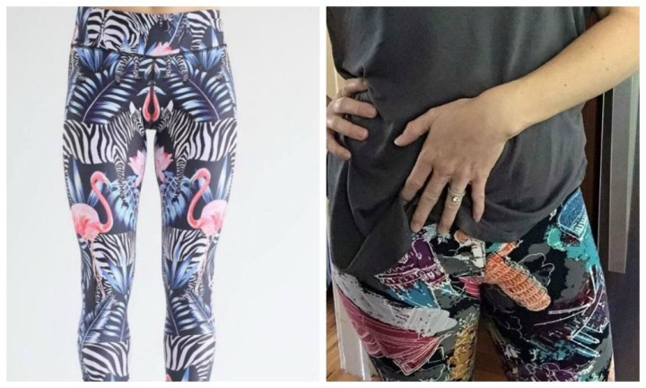 Um, we won't be doing squats in these babies: Rude activewear goes viral
