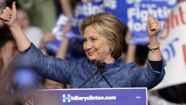 Hillary Clinton is inching closer to claiming the Democratic party presidential nomination. Picture: AP/Lynne Sladky