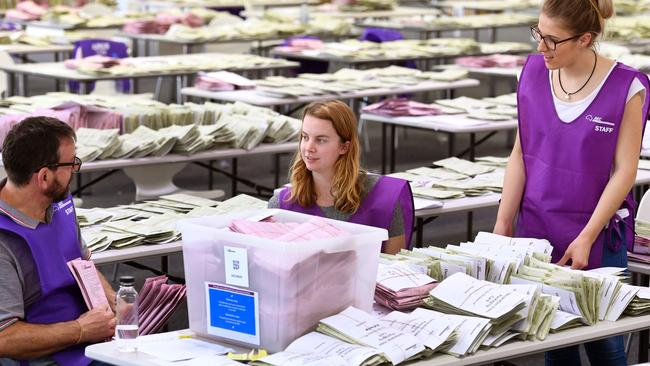 Counting the votes could continue for days, or even weeks, officials have said. Picture: AFP