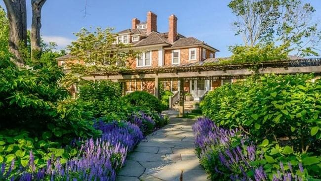 Richard Gere renovated and expanded the home to include twelve bedrooms. Picture Sotheby's International.