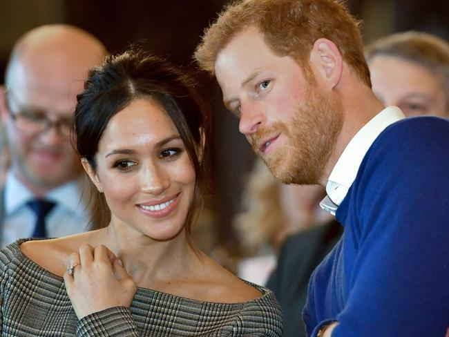 Britain's Prince Harry and his fiancee Meghan Markle. Picture: AFP