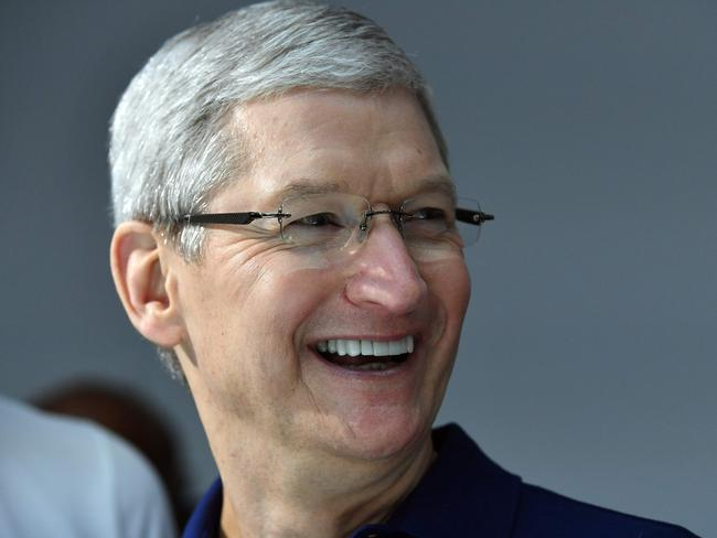 Apple CEO Tim Cook attended the unveiling of the new iPhone products at Bill Graham Civic Auditorium in San Francisco, California on September 7. Picture: AFP