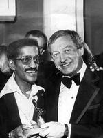 "Winner of the Gold Logie Award 1978. Graham Kennedy for ""Blankety Blanks"", 10 Network. Sammy Davis Jr and Graham Kennedy holding the Logie."