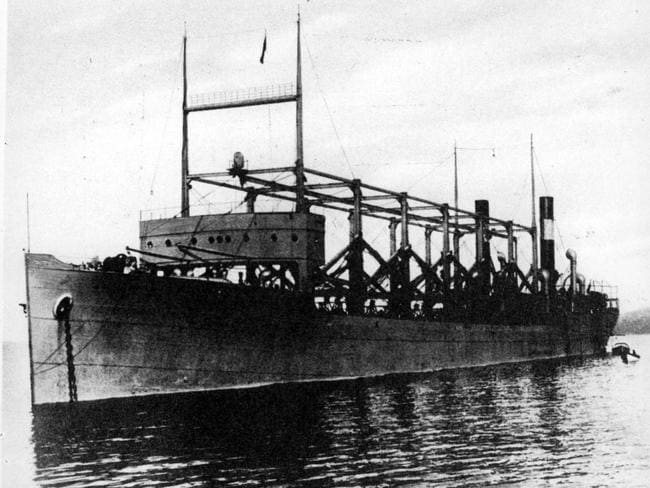 The USS Cyclops ship, the first reported ship carrying a radio lost in the Bermuda Triangle in 1918.