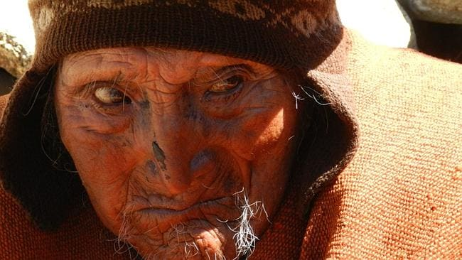 Bolivian Carmelo Flores Laura who according Bolivian authorities is 123 years old. Picture: EPA
