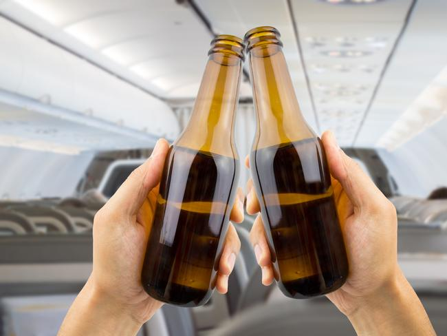 A near-empty flight? We'll drink to that.
