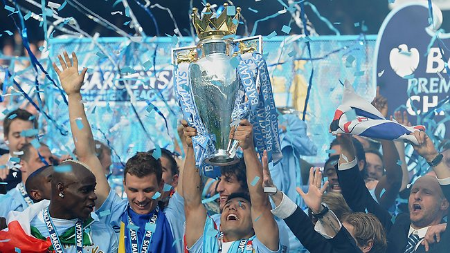 Expensive title - Manchester City celebrates last season's EPL title, which has come at a big cost.