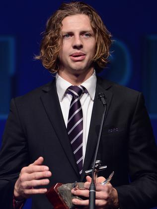 Real winner ... Nat Fyfe was handed the Brownlow Medal on the night