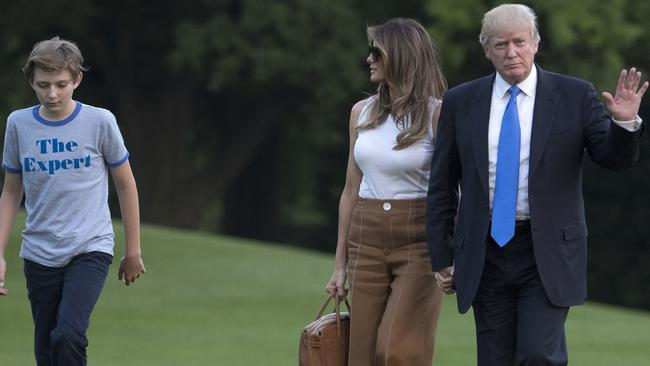 Melania Trump has slowly been raising her profile at the White House. Picture: AP