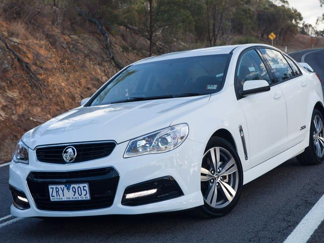 Pulled off the road ... the Holden Commodore.