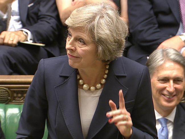 Image result for theresa may in the house of commons