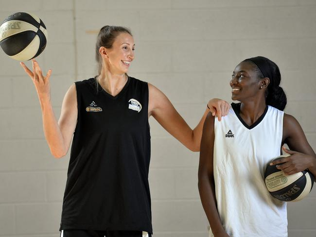 Sydney Flames imports Jen Hamson and Asia Taylor are back again this season.