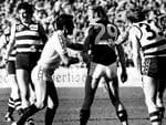Bartlett has his number taken for the first time in his 369-game career, for allegedly striking Bruce Nankervis.