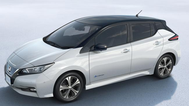Owners can power household appliances with leftover electricity from the Nissan Leaf. Pic: Supplied.