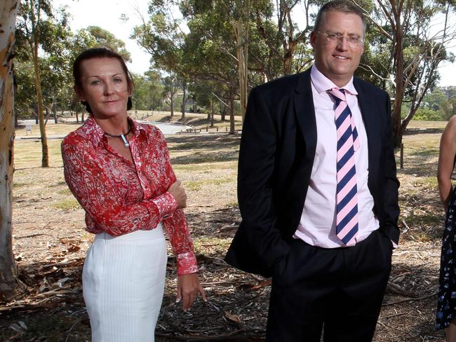 'Education group': Debbie Robinson, left, and Andrew Horwood. Picture: News Corp Austarlia