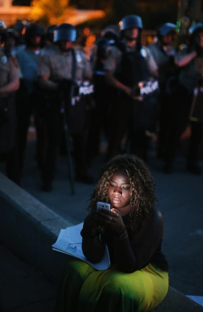 Live updates ... Americans have taken to social media over the days of protests, w with many expressing dismay at police actions. Picture: AFP