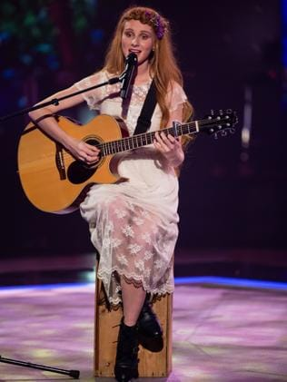 The Voice?s Celia Pavey from Team Delta. Picture: Channel 9