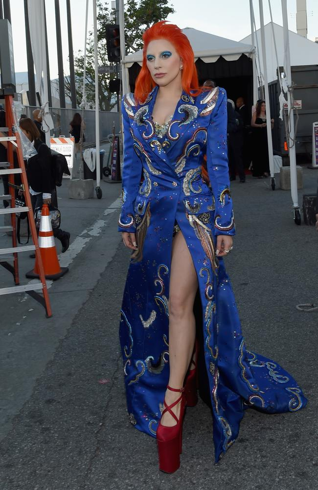 Gaga's Bowie tribute is coming up ... she certainly looks the part. Picture: Getty