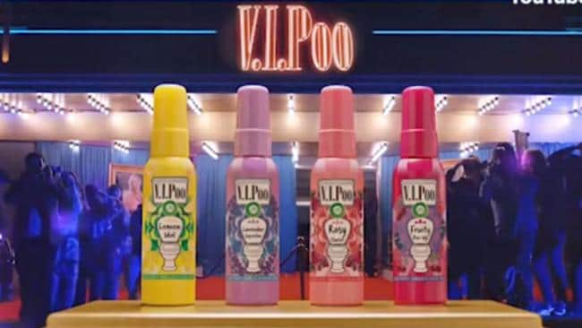 V.I.Poo pre-poo loo sprays — the product you never knew you needed.