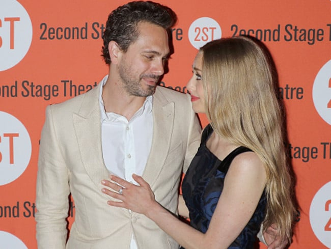 Co-stars ... Actors Thomas Sadoski and Amanda Seyfried attend The Way We Get By opening night after-party on May 19, 2015 in New York City.