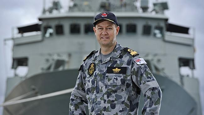 Commodore Peter Leavy, commander of the Joint Task Force 658, said the black box's beacon locator is certified to last another nine days. Picture: Stewart Allen