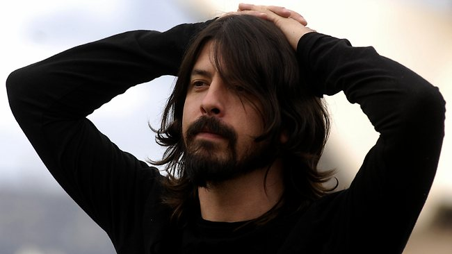 21/07/2007. Foo Fighters frontman Dave Grohl on the rooftop of The Park Hyatt Hotel to promote their new album. Picture: Melanie Russell