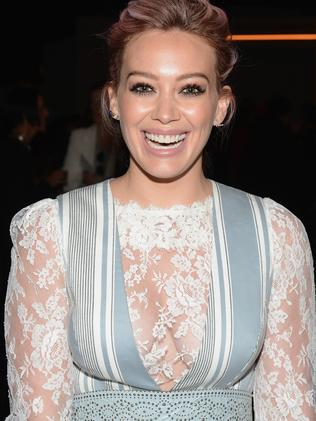 Hilary Duff attends the Zimmermann Fall 2016 runway show. Picture: Getty