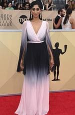 Sunita Mani arrives at the 24th annual Screen Actors Guild Awards at the Shrine Auditorium Expo Hall on Sunday, Jan. 21, 2018, in Los Angeles. Picture: Jordan Strauss/Invision/AP