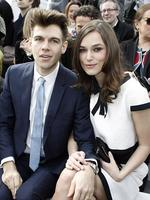 PARIS FASHION WEEK 2014: Actress Keira Knightley and her husband James Righton pose as they attend the Chanel show. Picture: AP